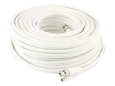 Swann BNC to BNC M M and DC M F Cable, White, 300ft
