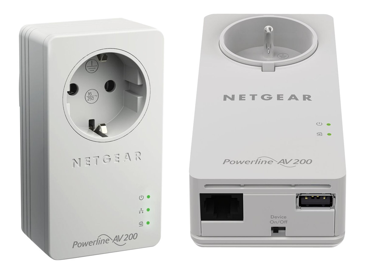 Netgear Powerline Network Extender, XAUB2511-100NAS