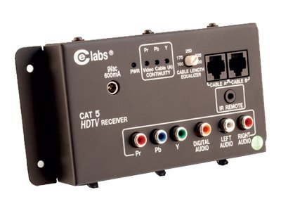C2G HDTV A V Over Cat5 Receiver Unit, 41168, 8501539, Video Extenders & Splitters