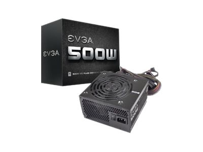 eVGA 500W White 80Plus PSU, 100-W1-0500-KR, 16570411, Power Supply Units (internal)