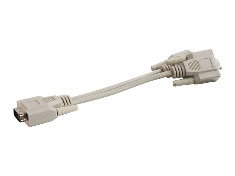 C2G Economy Male to Dual Female SVGA Y-Cable, 8in, 25246, 460745, Cables