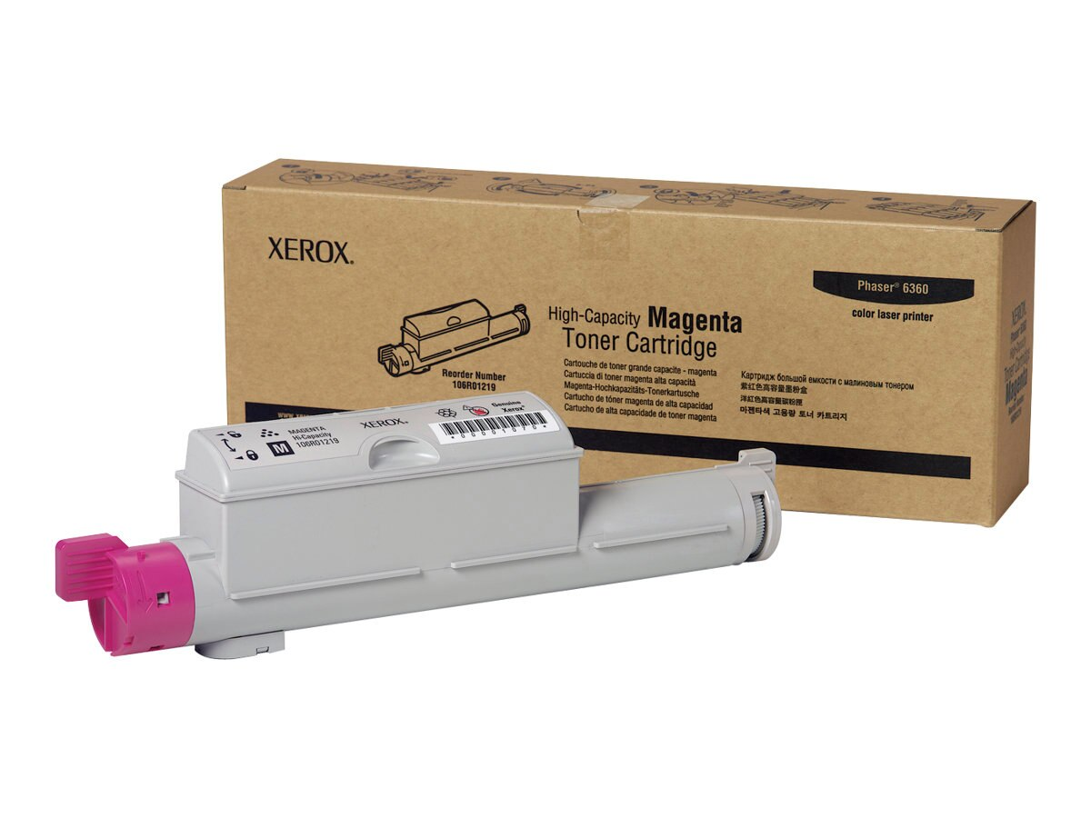 Xerox Magenta High Capacity Toner Cartridge for Phaser 6360 Printers