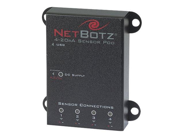 APC NetBotz Sensor Pod (4-20mA) with USB Cable - 16ft TAA Compliant, NBPD0129, 6263101, Environmental Monitoring - Indoor