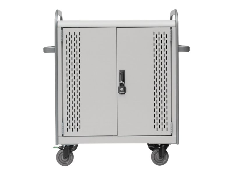 Bretford Manufacturing 30-Unit Pulse 30L Store and Charge Cart with Removable Back Panel, MDMTAB30BP-CTAL, 20594416, Computer Carts