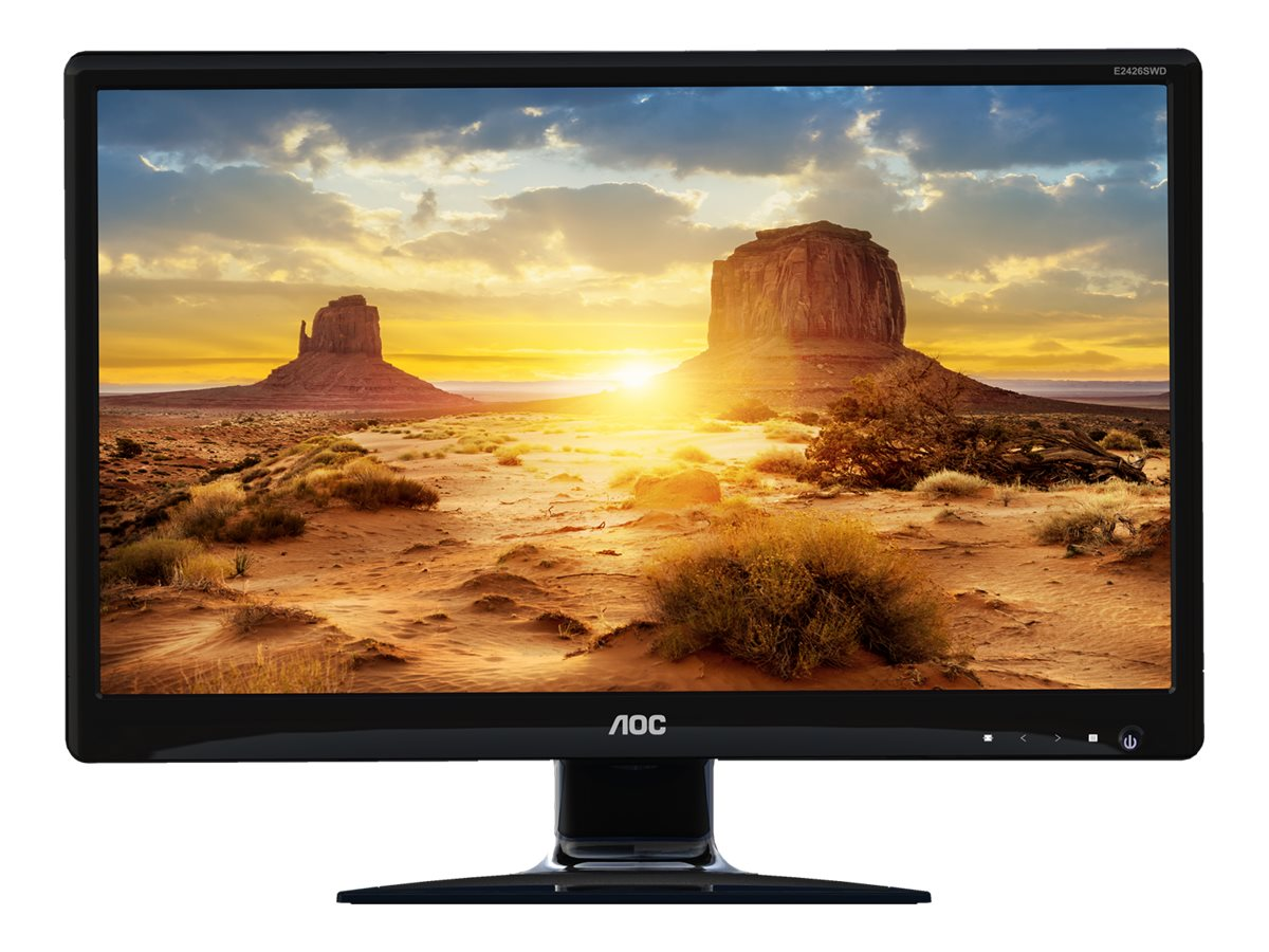 AOC 23.6 E2426SWD Full HD LED-LCD Monitor, Black, E2426SWD, 30789647, Monitors - LED-LCD
