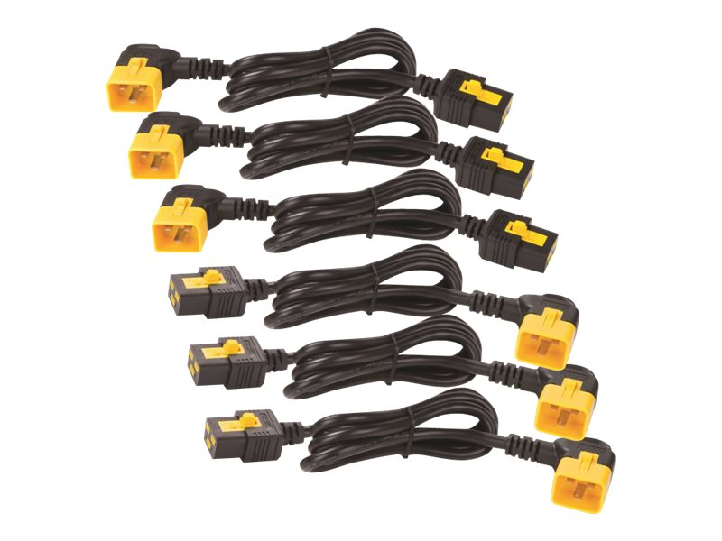 APC Kit of 6 1.8M Power Cord Locking C19 TO C20 90 Degrees, AP8716R, 11577593, Power Cords