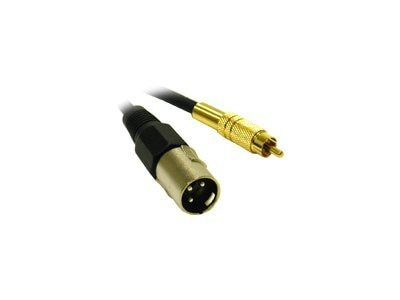 C2G Pro-Audio Cable, XLR (M) to RCA (M), 1.5ft, 40045, 9410129, Cables