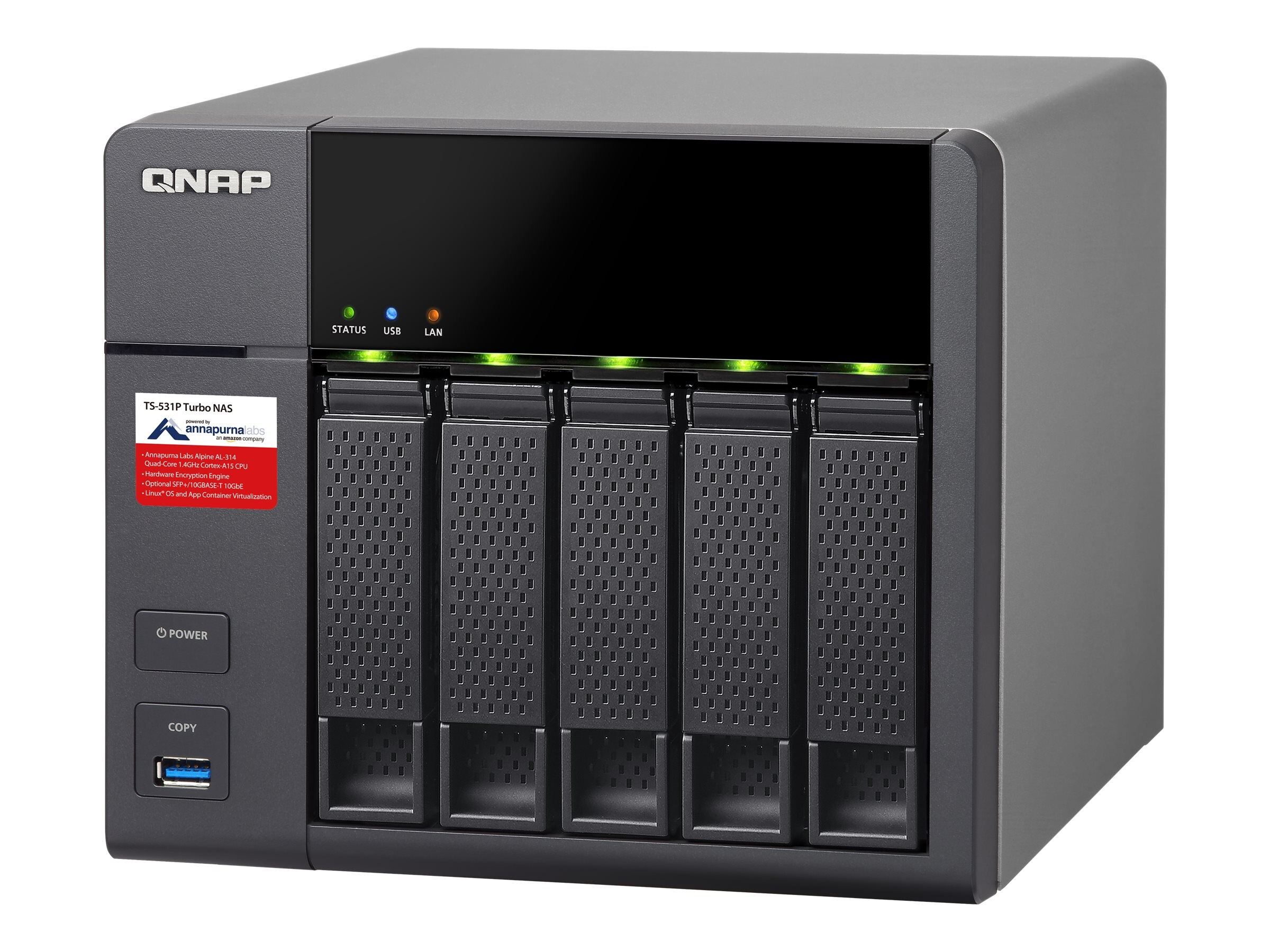 Qnap TS-531P ARMBased NAS w  Hardware Encryption