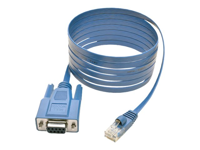 Tripp Lite RJ-45 to DB9 M F Cisco Serial Console Port Rollover Cable, Blue, 6ft, P430-006