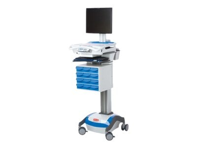Rubbermaid RX Cart, DC 35A, Base SKU (Requires Drawer Kit), 9M38-RX-D35, 12880527, Computer Carts - Medical