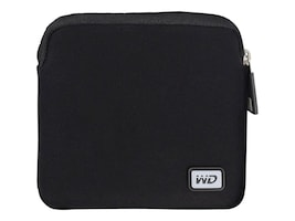 WD Neoprene Carrying Case for My Passport Wireless Pro w  Pocket, US, WDBDRF0000NBK-WASN, 33177929, Carrying Cases - Other