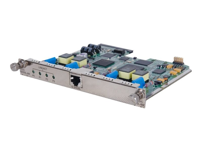 HPE MSR 1P 8-Wire G.SHDSL (RJ45) DSIC Module, JG191A, 13257657, Network Device Modules & Accessories