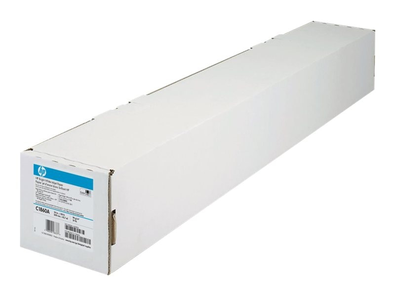 HP 24 x 150' Bright White Inkjet Paper, C1860A, 119310, Paper, Labels & Other Print Media