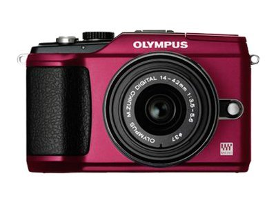 Olympus E-PL2 Digital Camera 14-42mm Kit, 12.3MP, Red, 262916