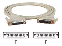Black Box DB25 Extension Cable (F-F), Beige, 6ft