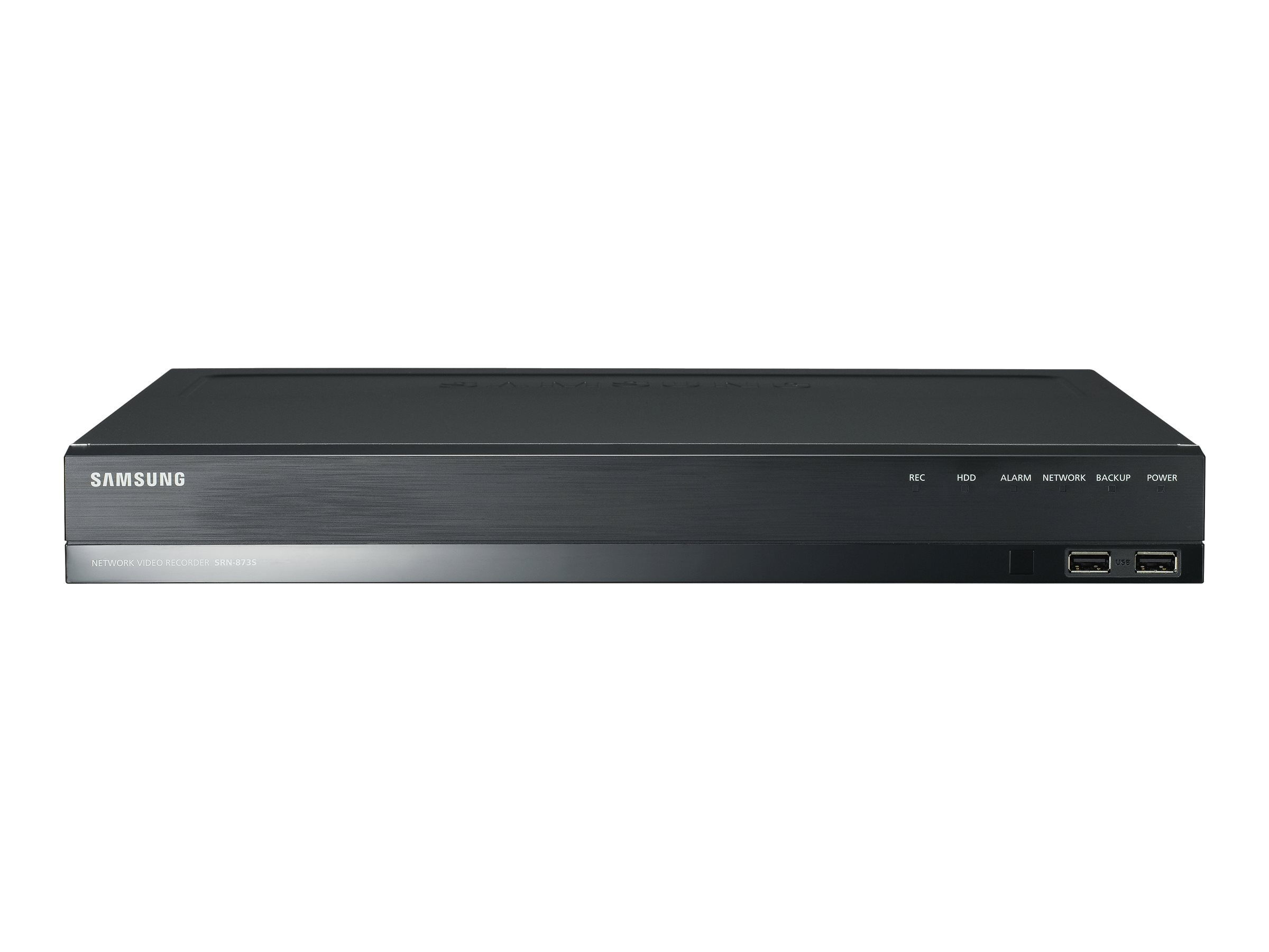 Samsung 1TB 8-Channel PoE+ NVR with (2) HDD Bays, SRN-873S-1TB