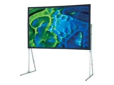 Draper Ultimate Folding Projection Screen with Standard Legs, Flex. Matte White, 4:3, 15', 241011, 10184940, Projector Screens