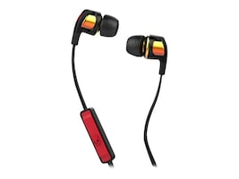 Skullcandy Smokin' Buds 2 Earbuds - Spaced Out Orange Iridium, S2PGGY-392, 23407401, Headsets (w/ microphone)