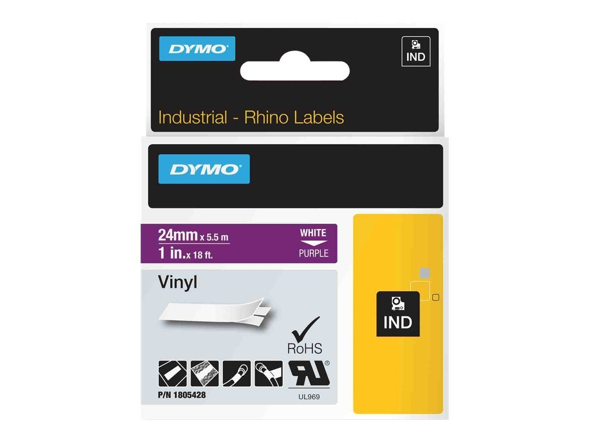 DYMO 1 Rhino Purple Vinyl Labels