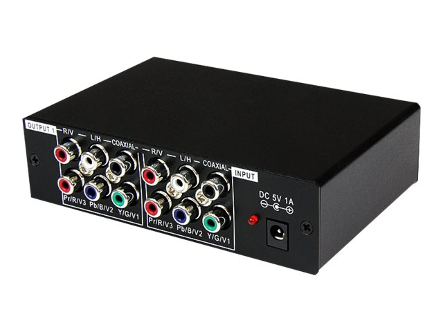 StarTech.com 3-Port Component (YPBPR) Video Distribution Amplifier with Audio, ST123HDA, 7460587, Video Extenders & Splitters