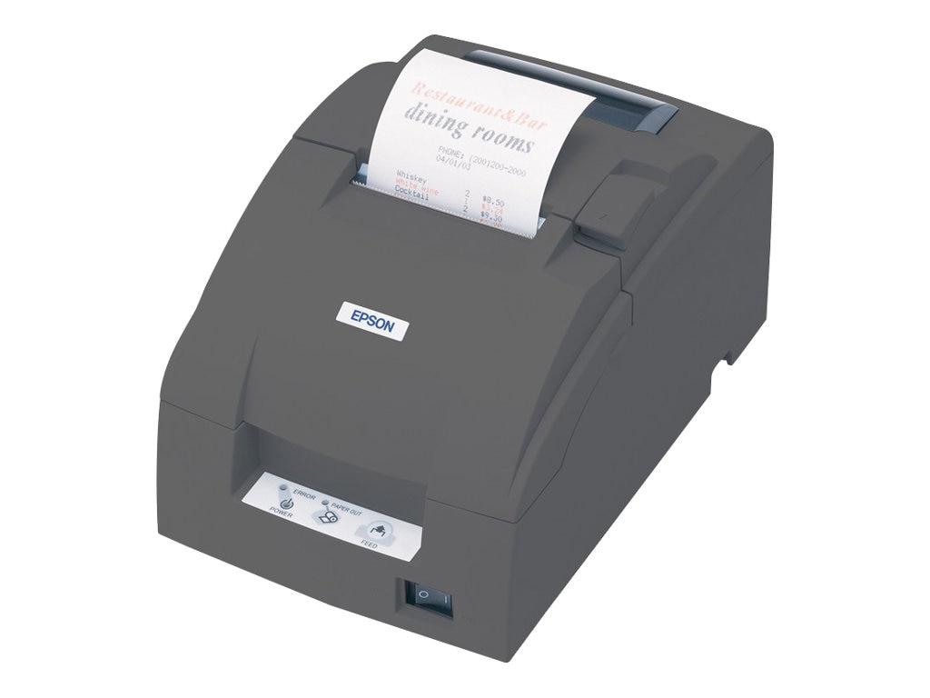 Epson TM-U220B Receipt Printer w  Auto Cutter (Wall Mountable)
