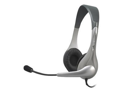 Cyber Acoustics Stereo Headset with Boom Microphone, AC-201