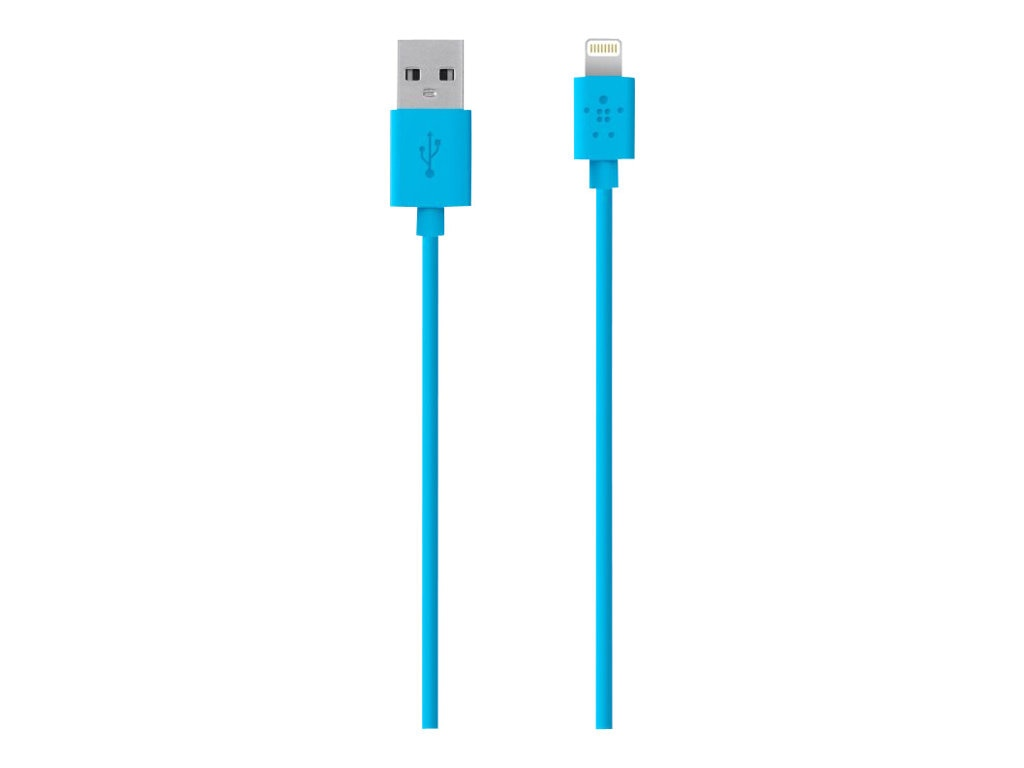 Belkin MIX IT Lightning Sync Charge cable, 1.2m, 4ft, Blue, F8J023BT04-BLU