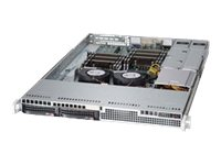 Supermicro Chassis, SuperChassis 813LT-R500CB 1U RM E-ATX (2x)Intel AMD 2x3.5 HS SAS SATA Bays 2x500W, CSE-813LT-R500CB, 17918395, Cases - Systems/Servers