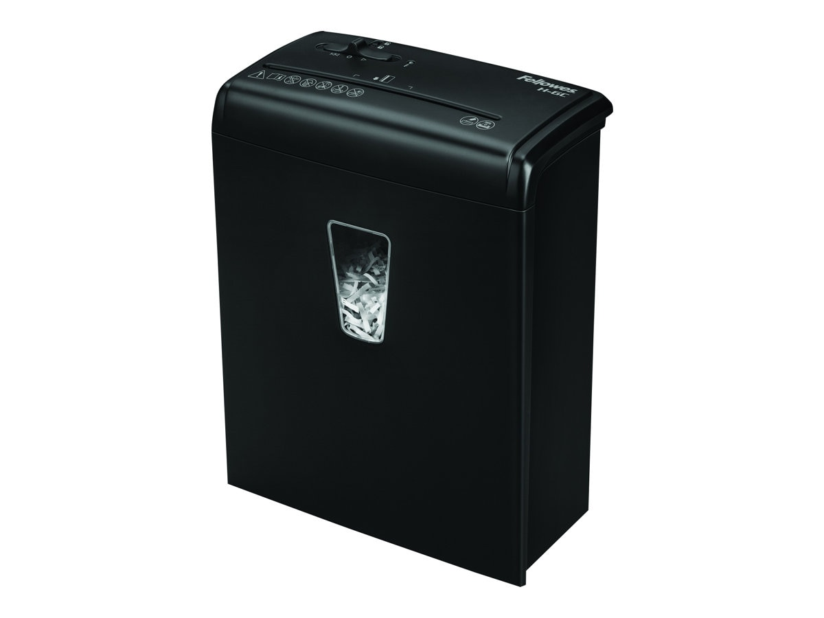 Fellowes PowerShred H-6C Cross Cut 4x35mm 6-Sheet Shredder w  Basket - Black, 4682101, 17413901, Paper Shredders & Trimmers