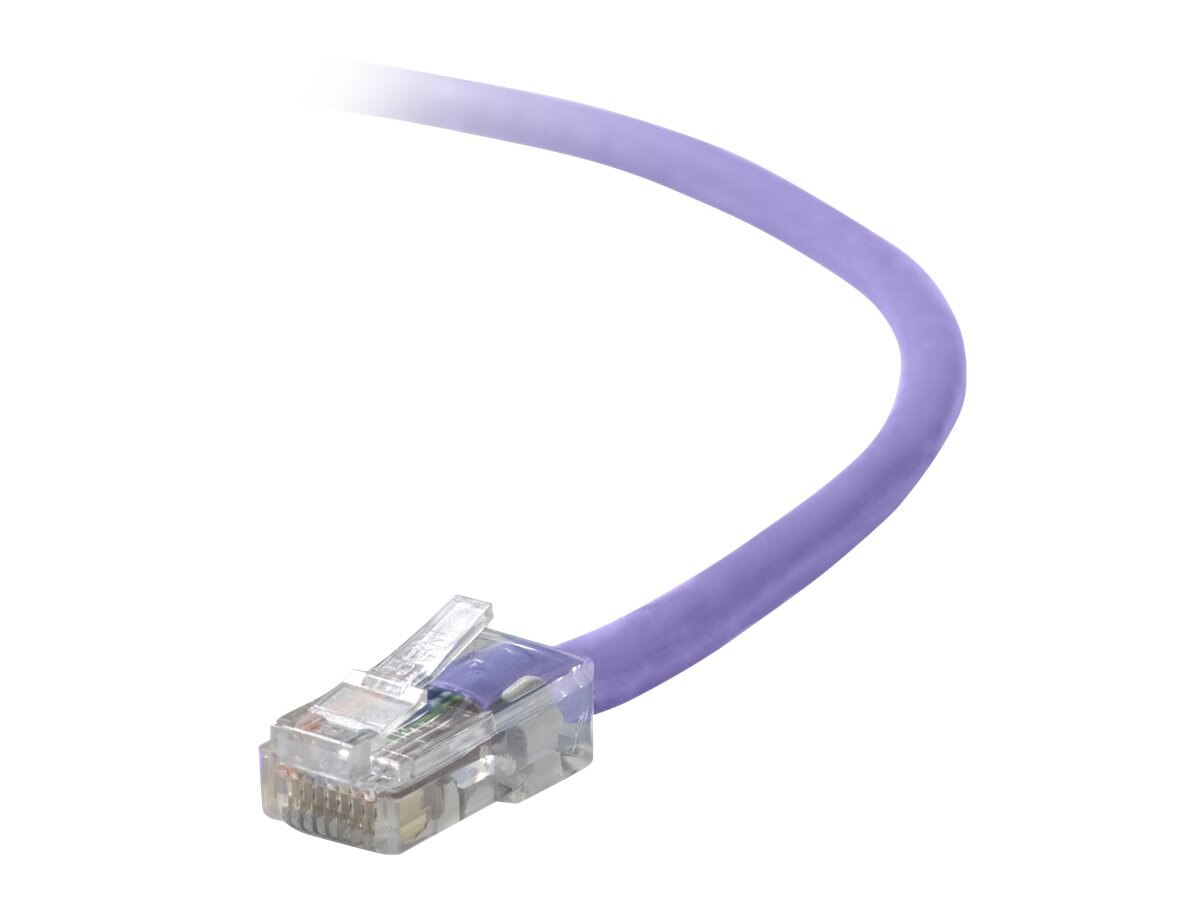 Belkin Cat5e Non-Booted UTP Patch Cable, Purple, 2ft, A3L791-02-PUR, 5677141, Cables