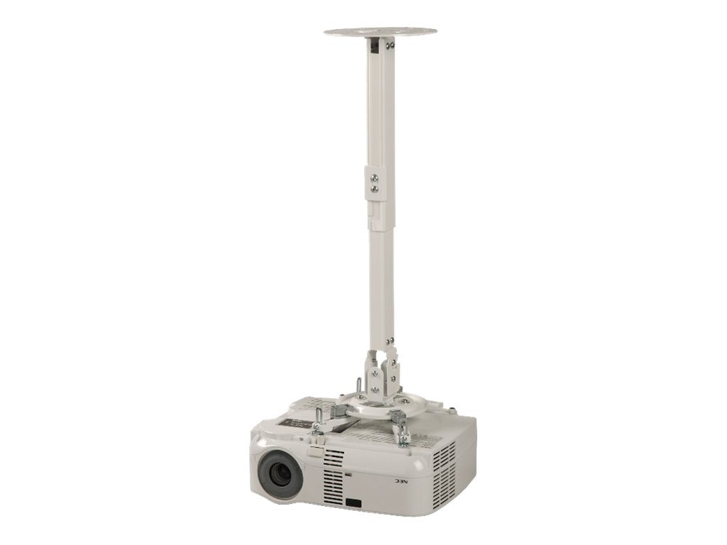 Peerless Adjustable Wall Ceiling Mount for Projectors, 16.75-25.68, White, PPB-W, 8627318, Stands & Mounts - AV