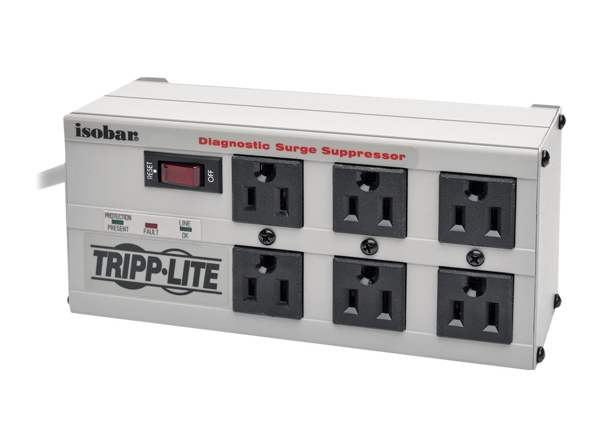 Tripp Lite Isobar Ultra Surge (6) Outlet 6ft Cord 3330 Joules, ISOBAR6, 6200, Surge Suppressors