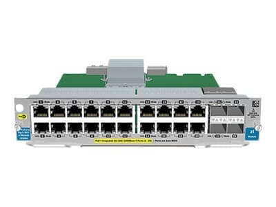 HPE 20Pt. GT PoE+ 4Pt.-SFP V2 ZL Module, J9535A, 12229953, Network Device Modules & Accessories