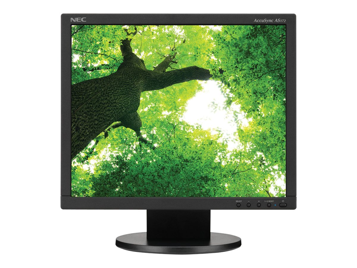 NEC 17 AS172-BK LED-LCD Monitor, Black, AS172-BK, 16757219, Monitors - LED-LCD