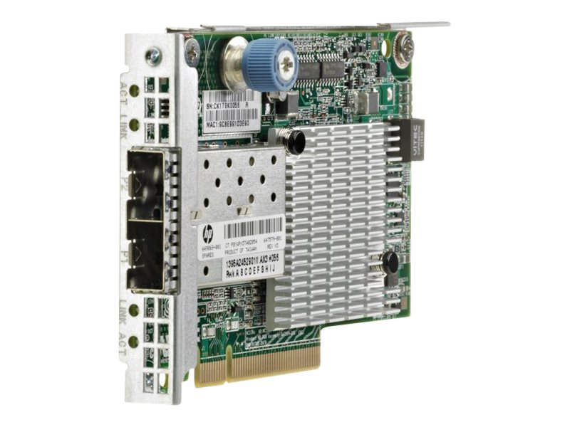HPE Ethernet 10Gb 2-port 530FLR-SFP+ Adapter, 647581-B21, 13752906, Network Adapters & NICs