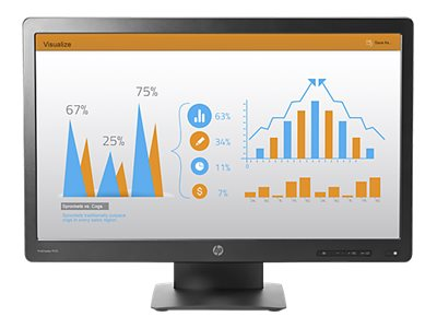 HP 23 ProDisplay P232 Full HD LED-LCD Display, Black, K7X31AA#ABA, 19802601, Monitors - LED-LCD