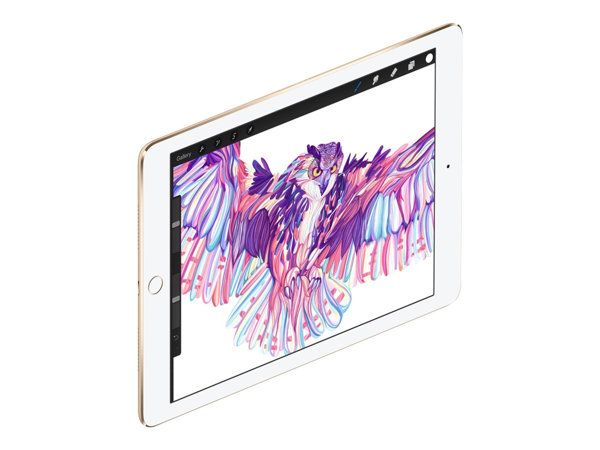 Apple iPad Pro 9.7, 128GB, Wi-Fi+Cellular, Gold (Apple SIM), MLQ52LL/A, 31803359, Tablets - iPad Pro