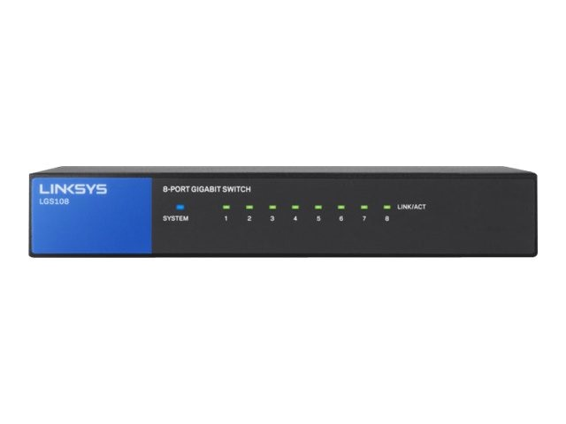 Linksys 8-Port Gigabit Switch, LGS108, 16303591, Network Switches