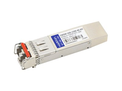 ACP-EP 10GBASE-ER CWDM LC SFP+ 1590NM 40KM for Cisco, CWDM-10G-1590-40-AO, 14858500, Network Transceivers