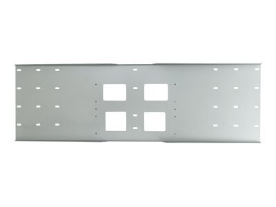 Peerless Triple-Stud Wall Plate, Black, WSP724, 7428472, Stands & Mounts - AV