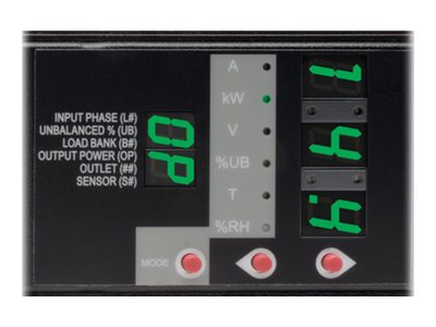 Tripp Lite Switched PDU 14.4kW 208V 3-ph 45A 0U, Hubbell CS8365C 50A Input, 6ft Cord, (6) C13, (12) C19 Outlets, PDU3VSR6H50A
