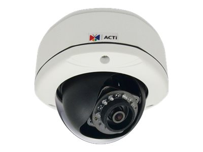 Acti 1MP Outdoor Dome with D N, Adaptive IR, Basic WDR, Fixed lens, E71A, 19911154, Cameras - Security