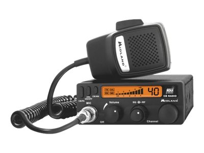 Midland Radio 40-Channel CB Radio w  RF Gain, 1001LWX