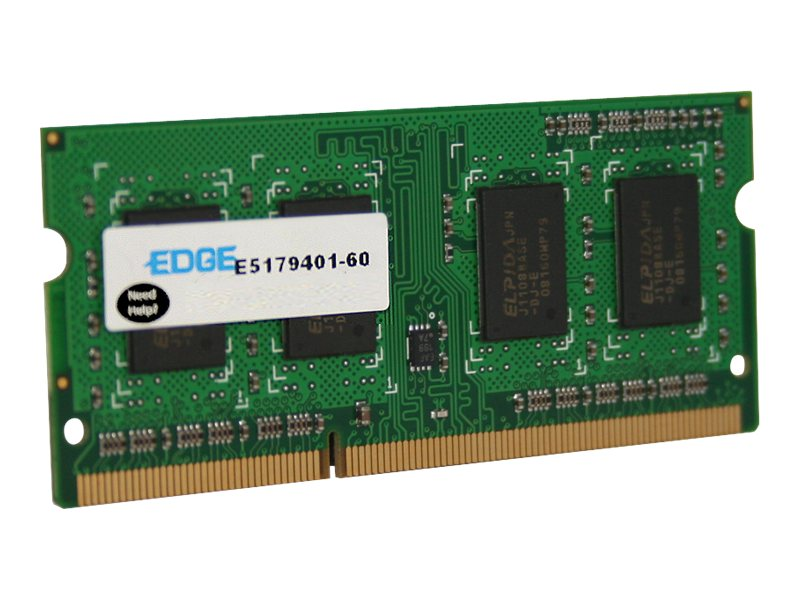 Edge 2GB PC3-12800 204-pin DDR3 SDRAM SODIMM, PE231644, 13649116, Memory