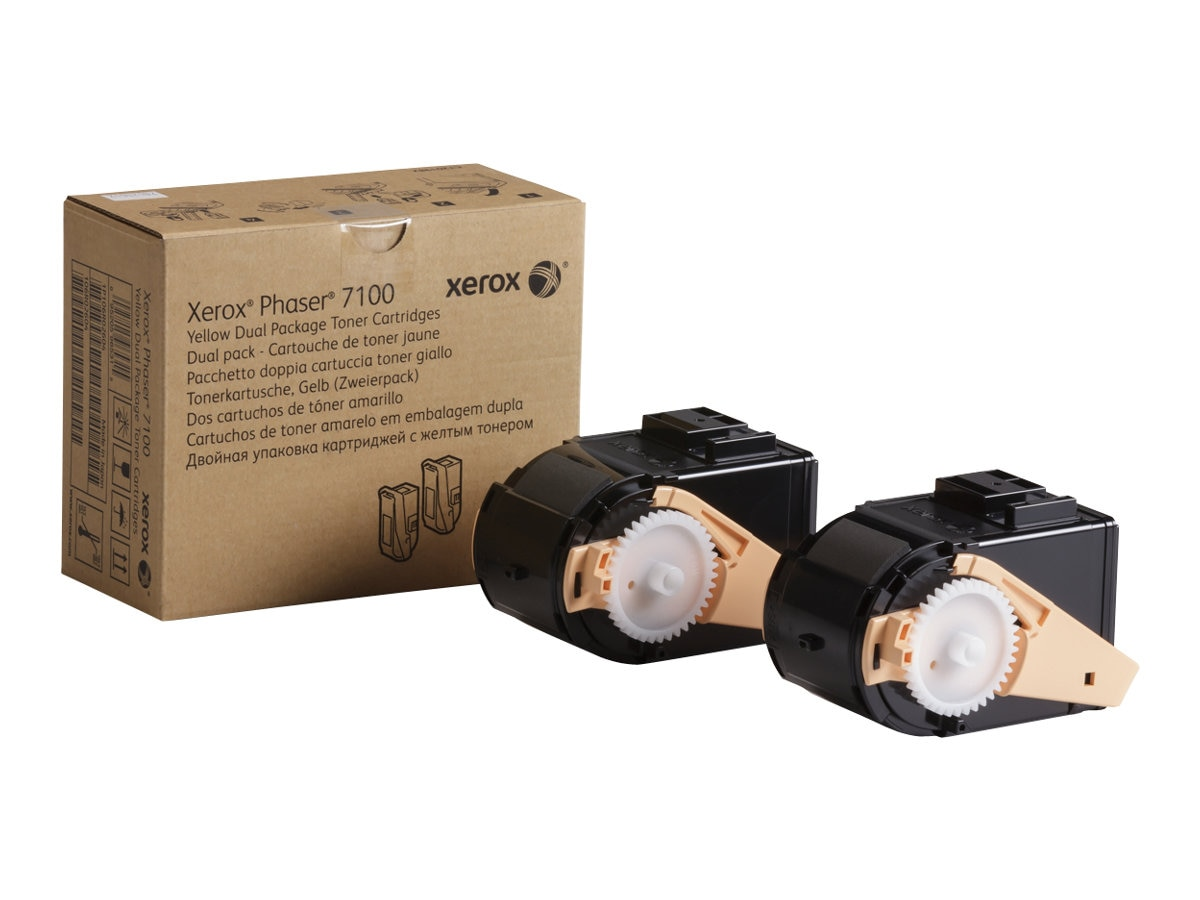 Xerox Yellow Toner Cartridges for Phaser 7100 Series (2-pack)