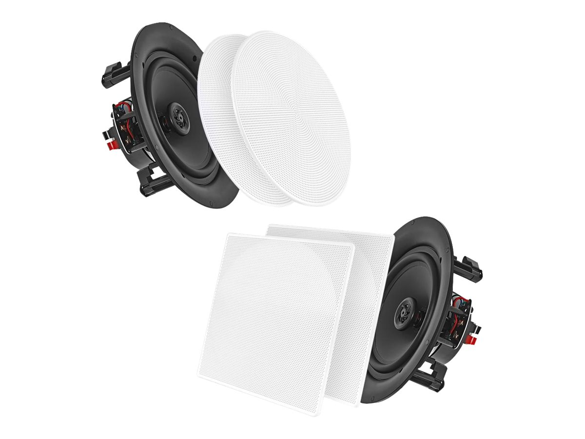 Pyle 6.5 200W White In-Wall In-Ceiling Dual Stereo Speakers, PDIC66