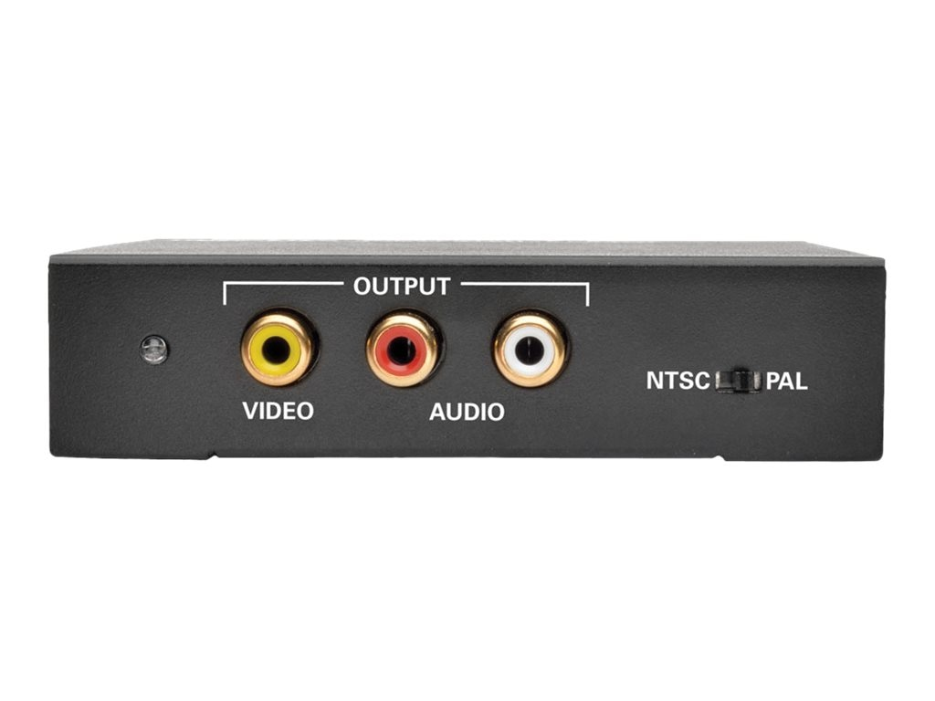 Tripp Lite HDMI to Composite Video with Audio Converter, Black, P130-000-COMP