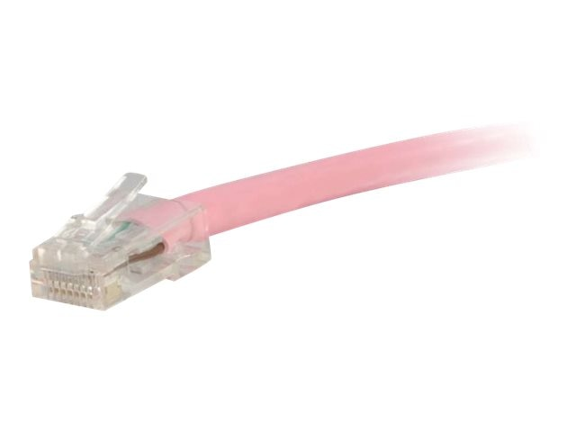 C2G Cat5e Non-Booted Unshielded (UTP) Network Patch Cable - Pink, 1ft