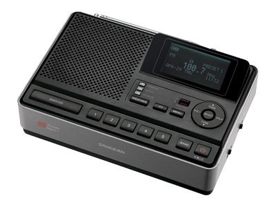 Sangean S.A.M.E. Table-Top Weather Hazard Alert with AM FM Clock Radio