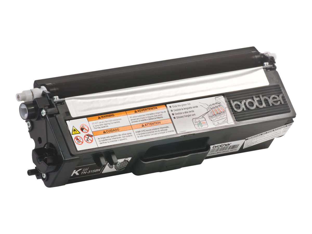 Brother Black High Yield Toner Cartridge for HL-4150CDN, HL-4570CDW, HL-4570CDWT, MFC-9460CDN, MFC-9560CDW, TN315BK, 12019569, Toner and Imaging Components